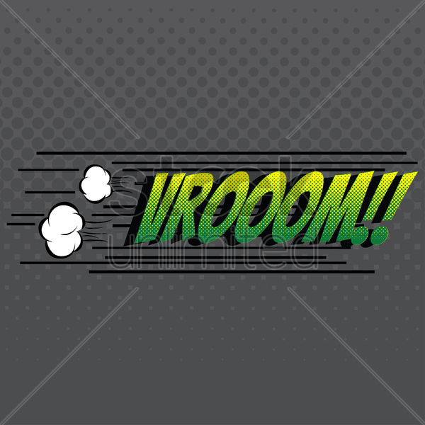 comic effect vroom vector graphic