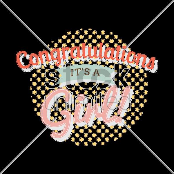 congratulatory message for a newborn girl vector image 1924075