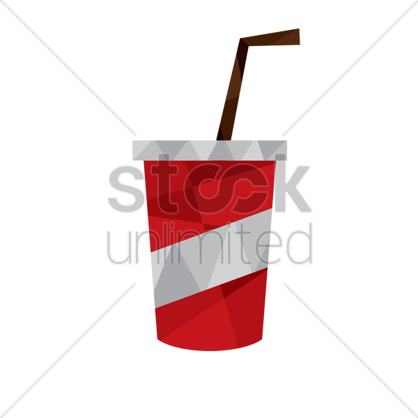 disposable cup vector graphic