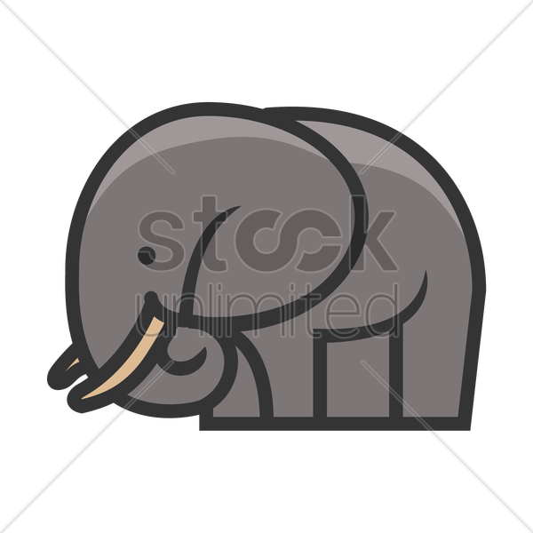 elephant icon vector graphic