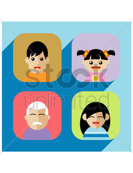 Free family vector graphic