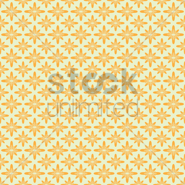 Free Flower pattern background Vector Image - 1566379