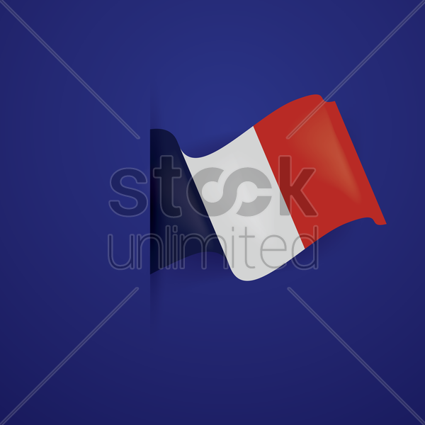 France flag sticker vector graphic