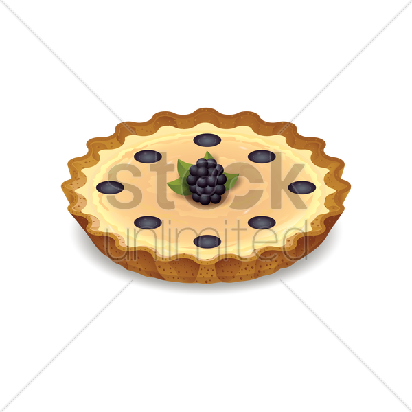 Fruit Tart Vector Image 1647203 Stockunlimited