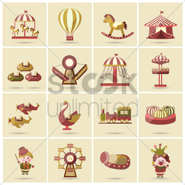 funfair collection vector graphic