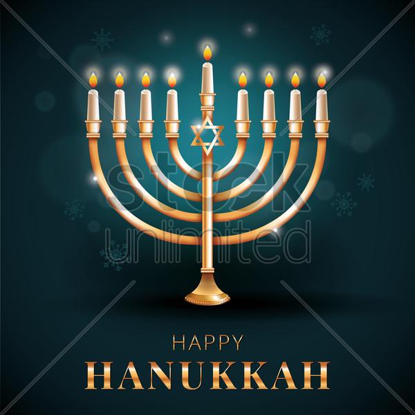 Happy hanukkah greeting vector image 1964167 stockunlimited happy hanukkah greeting vector graphic m4hsunfo