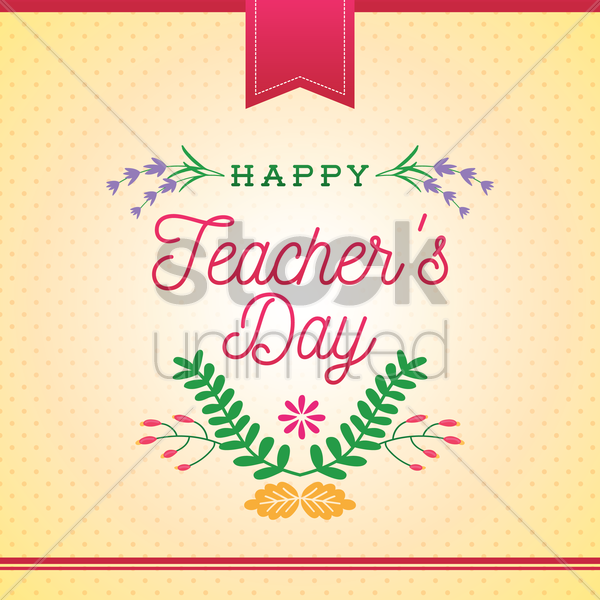 happy teacher's day design vector graphic