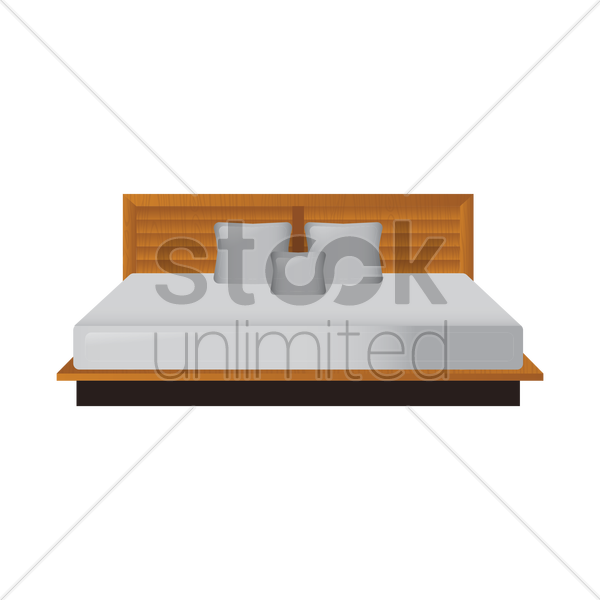 King Bed Vector Image 1377707 Stockunlimited