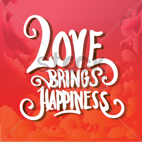 love typography design vector graphic