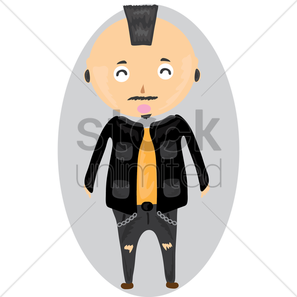Man With Mohawk Hairstyle Vector Image 1392767 Stockunlimited
