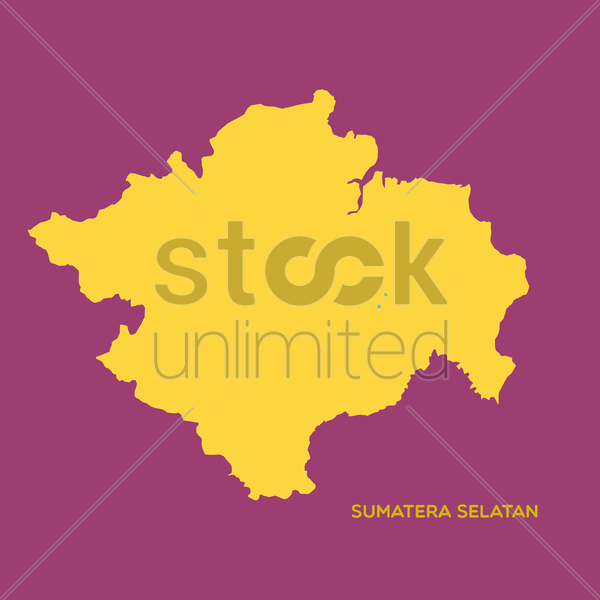 map of sumatera selatan vector image 1480403 stockunlimited