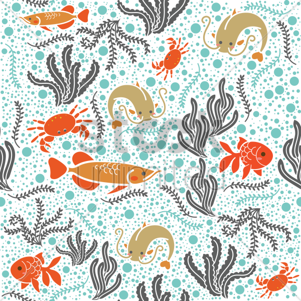 marine life background design vector graphic