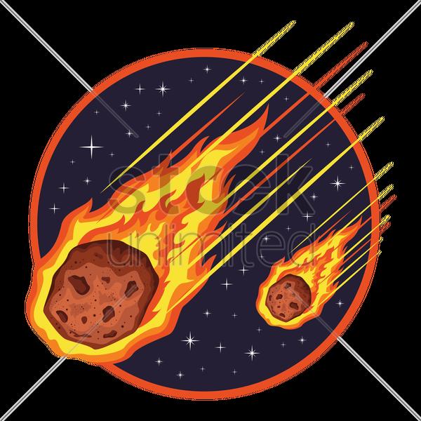 Meteor shower Vector Image - 1999427   StockUnlimited