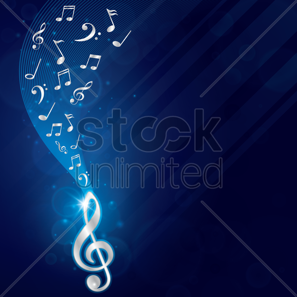 musical design vector graphic