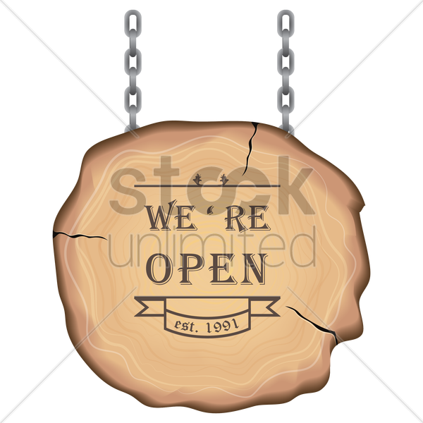open sign vector graphic