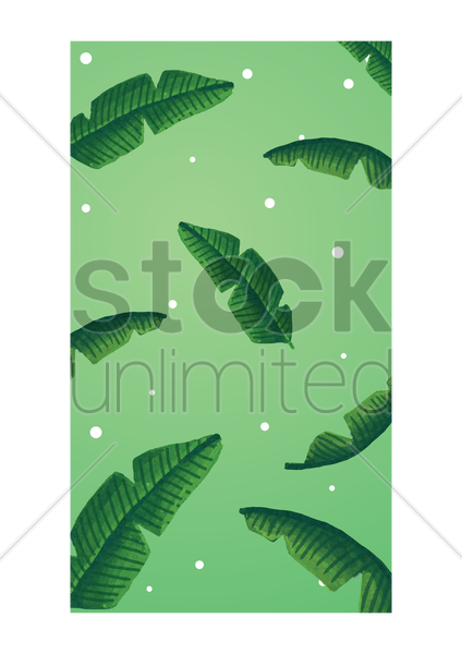 Palm Leaves Mobile Interface Wallpaper Vector Graphic
