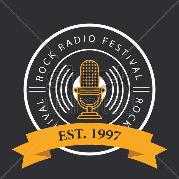 rock radio festival logo vector graphic