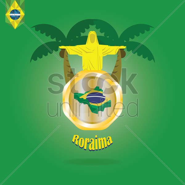 roraima map wallpaper vector graphic