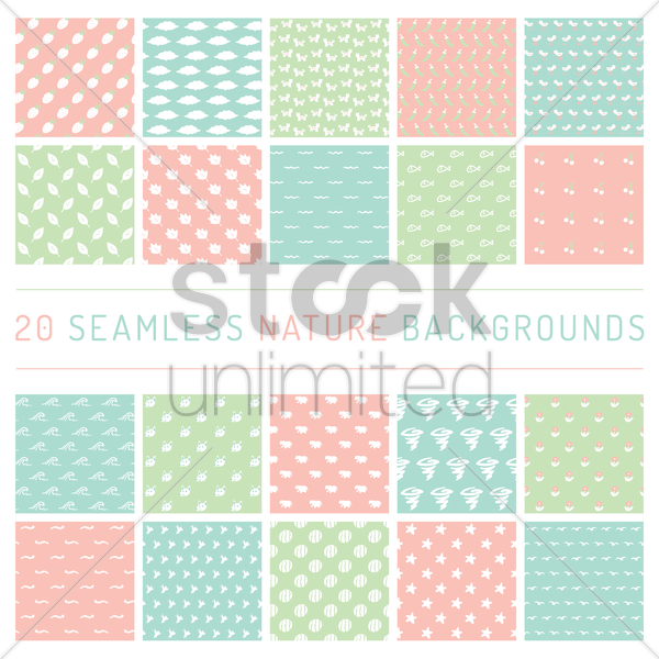 seamless nature backgrounds vector graphic