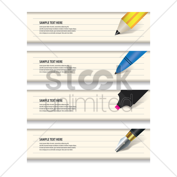 set of educational banners vector graphic