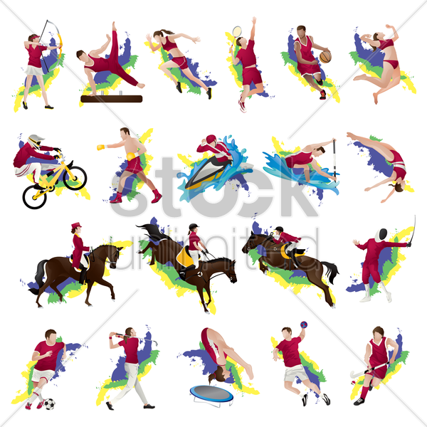 sets of competition sports vector graphic