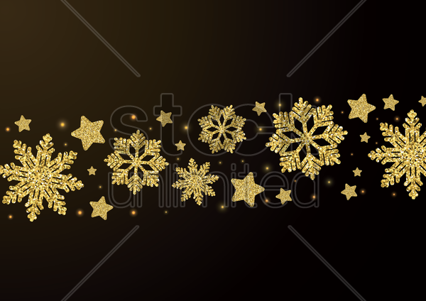 stars and snowflakes pattern vector graphic