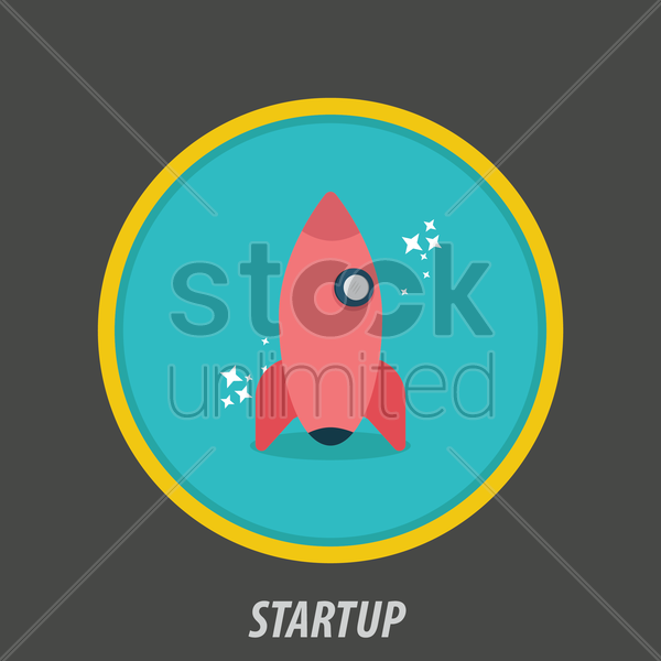 startup icon vector graphic