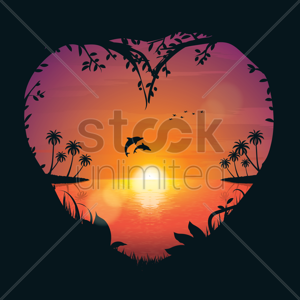 Free sunset vector graphic