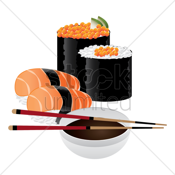 sushi set vector graphic
