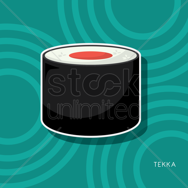 Free tekka sushi vector graphic