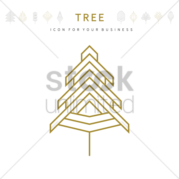 Tree template design vector image 1979895 stockunlimited tree template design vector graphic wajeb Choice Image