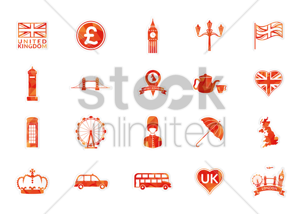 Free united kingdom icons vector graphic