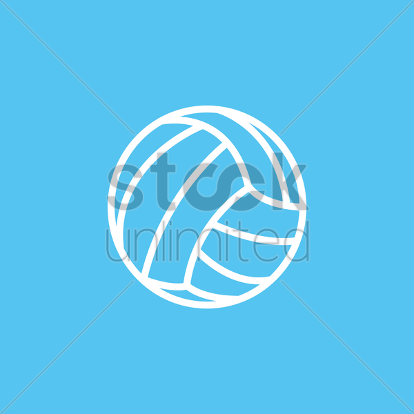 volleyball vector graphic