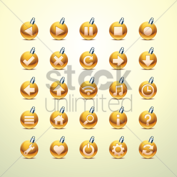 web icon buttons vector graphic