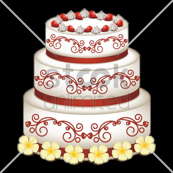 Wedding cake Vector Image - 1705815 | StockUnlimited