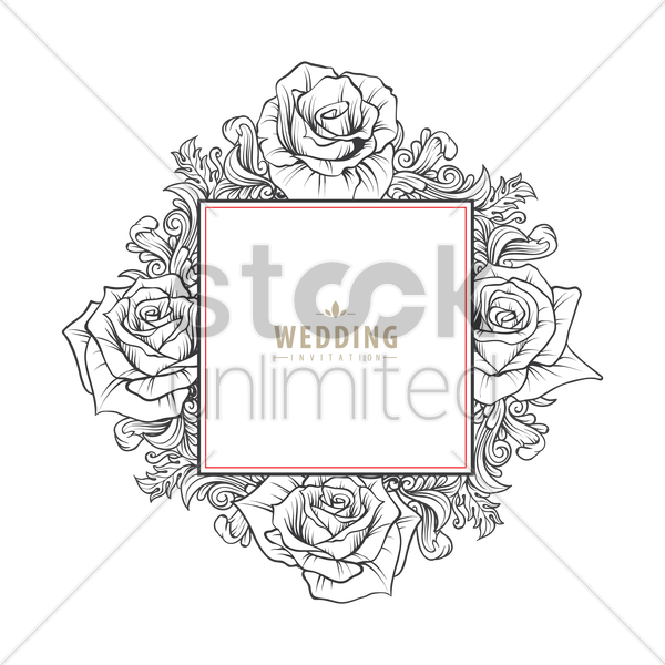 Wedding Invitation Card Vector Image 1821719 Stockunlimited