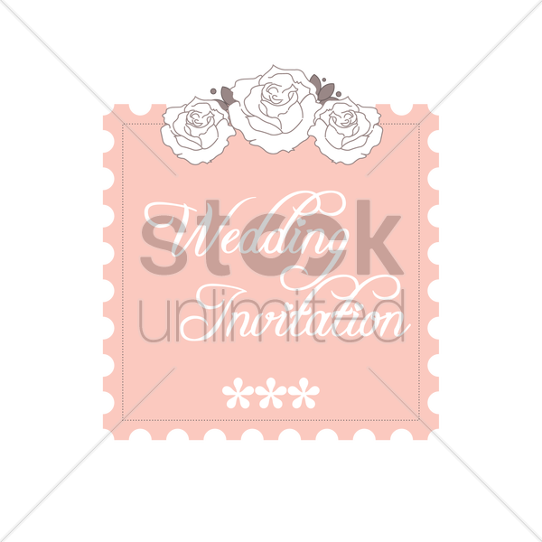 Wedding Invitation Vector Image 1789375 Stockunlimited