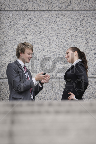 business people talking to each other stock photo