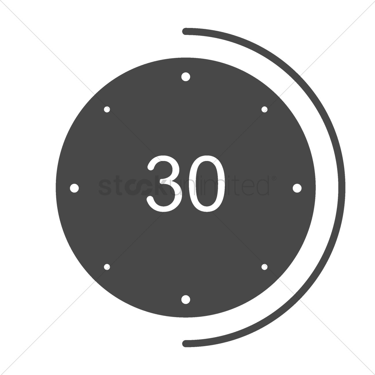 30 seconds icon vector image 2003927 stockunlimited