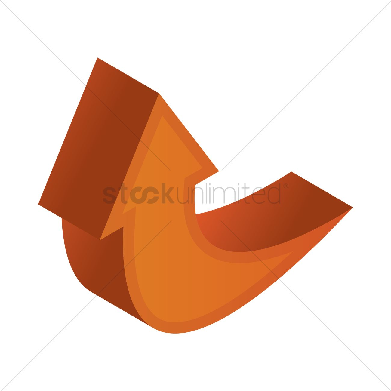 3d arrow pointing up vector image 1828003 stockunlimited