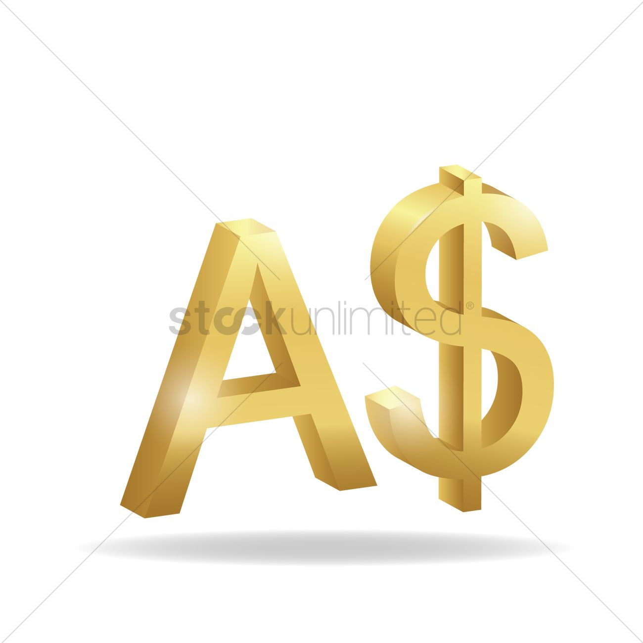 3d australia dollar currency symbol vector image 1827787 3d australia dollar currency symbol vector graphic biocorpaavc Images