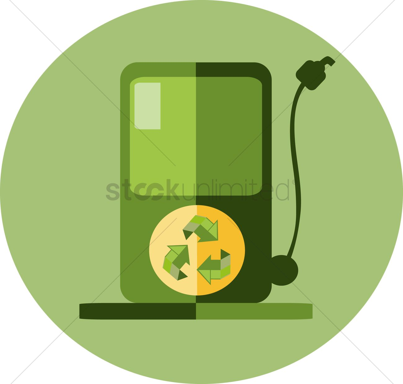 Free A Petrol Pump With Recycle Symbol Vector Image 1262043