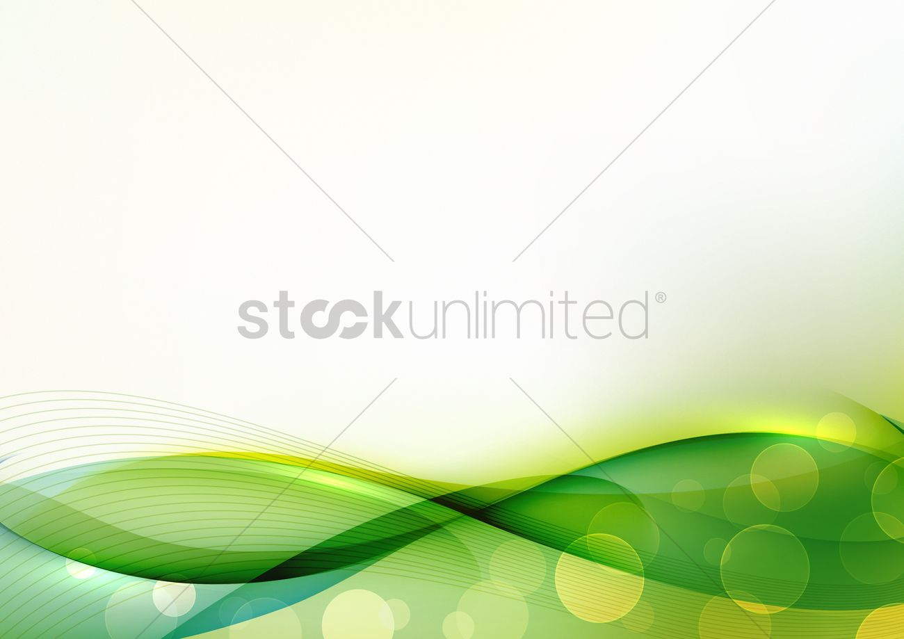 Abstract Green Wave Background Vector Image 1519587