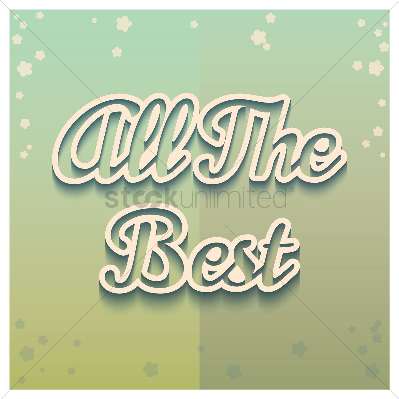 All The Best Greeting Vector Image 1811111 Stockunlimited