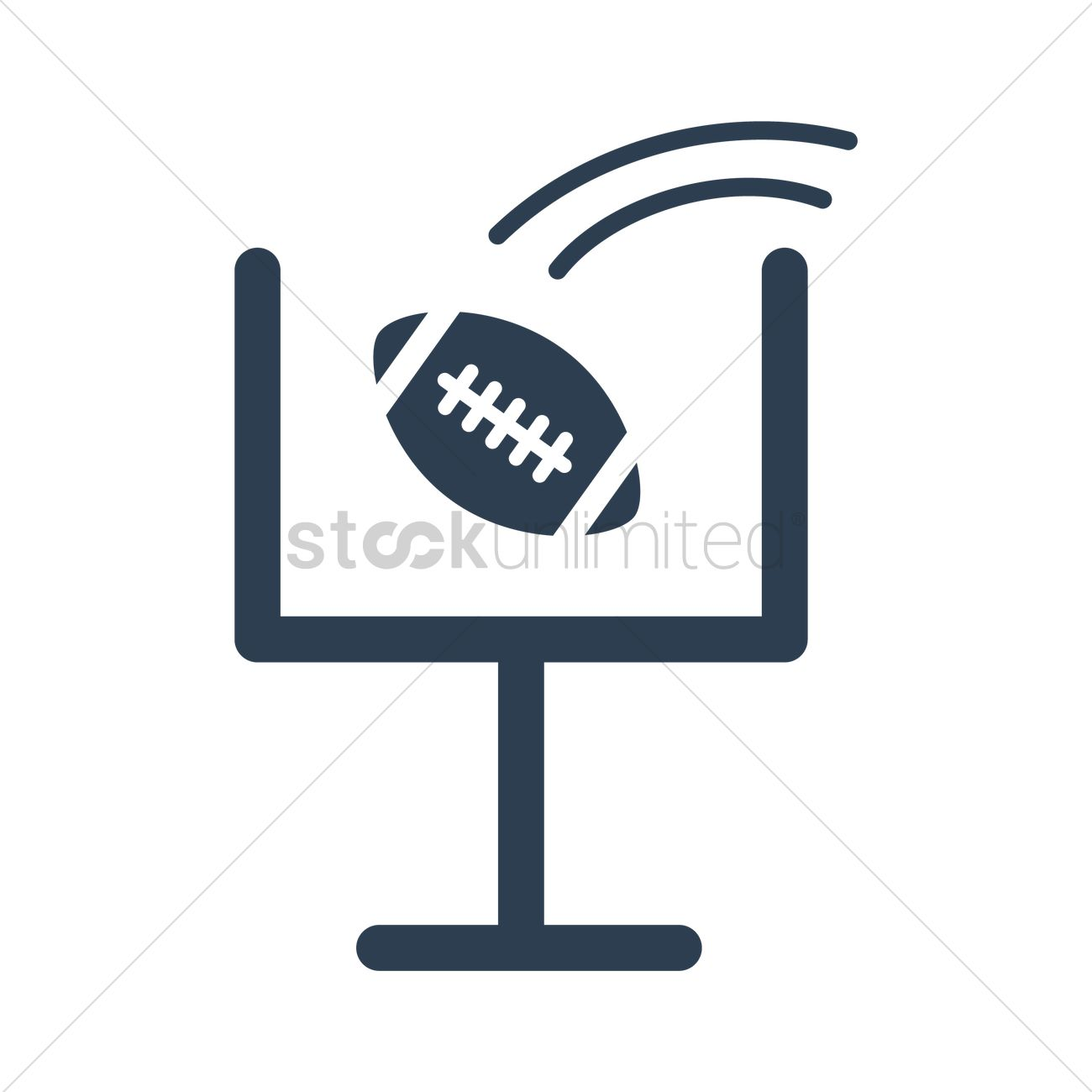 American Football Goal Post Icon Vector Image 1984911 Stockunlimited