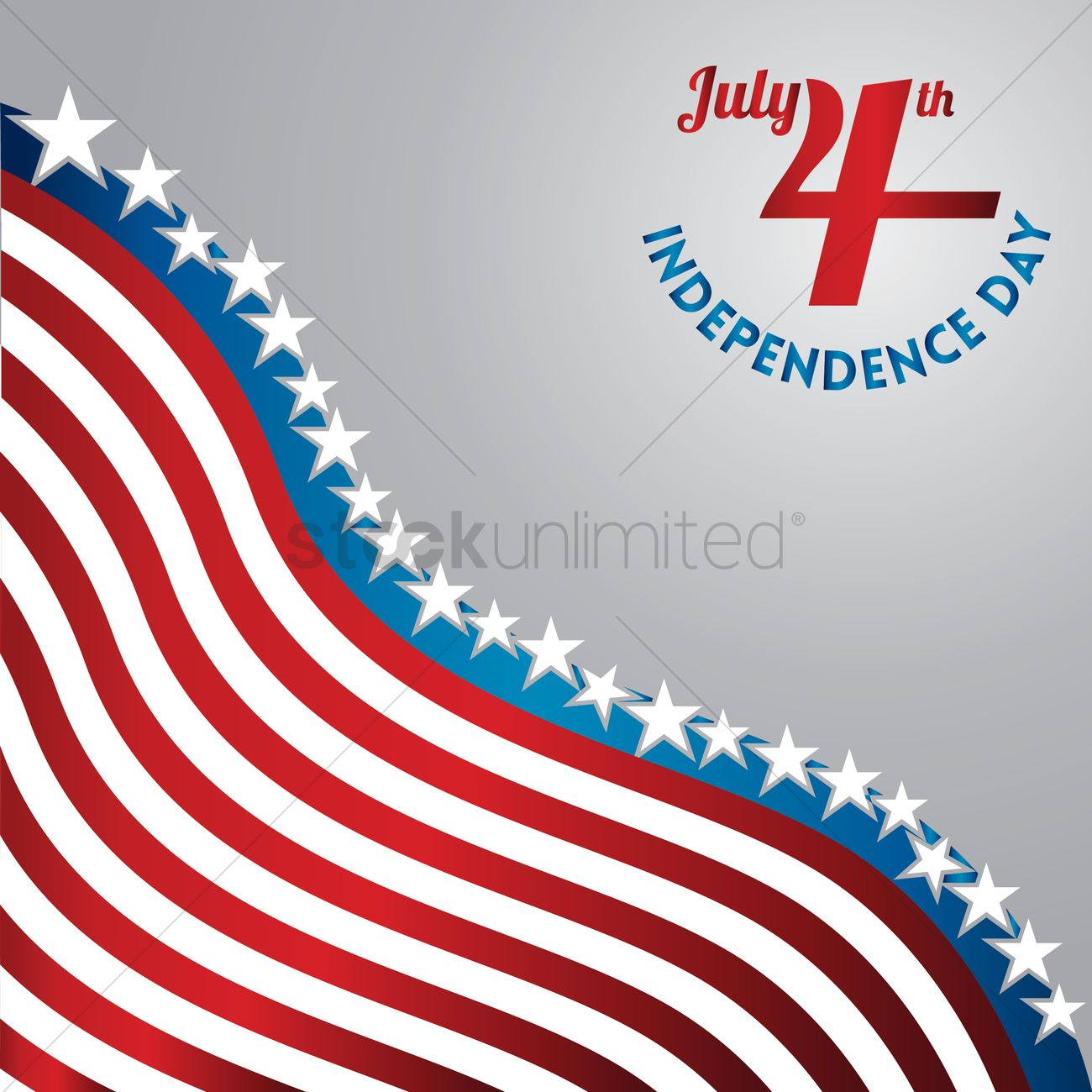 American independence day poster Vector Image - 1530427 | StockUnlimited