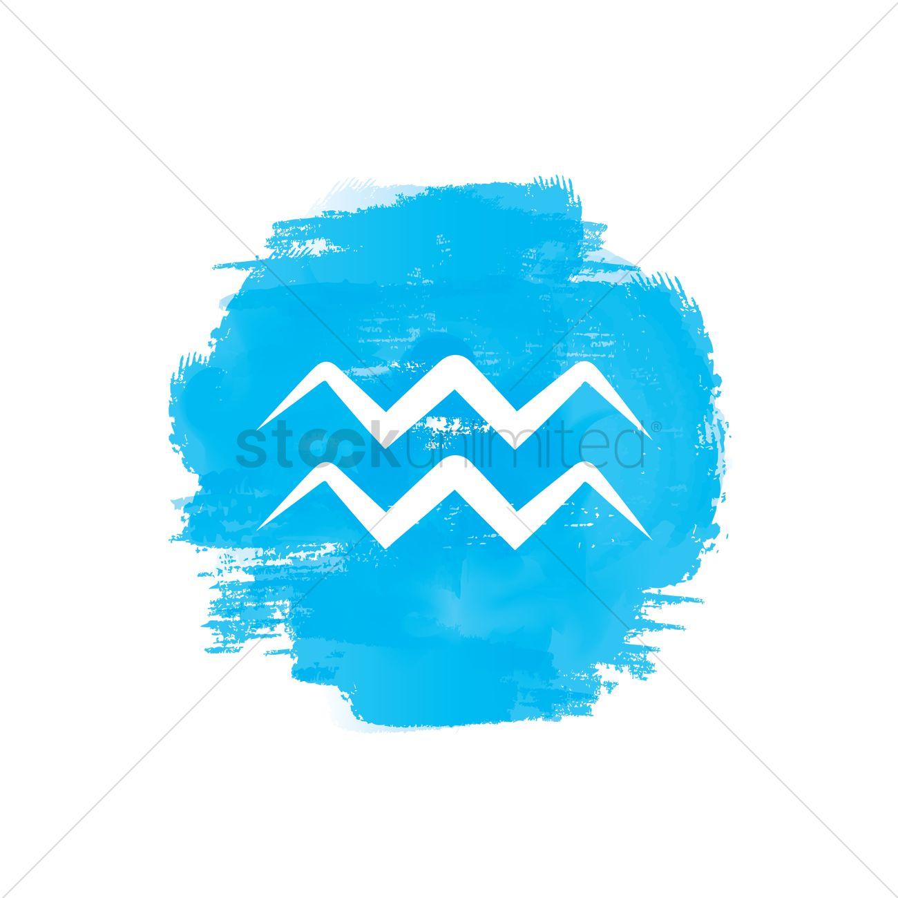 Aquarius Symbol Vector Image 1988791 Stockunlimited