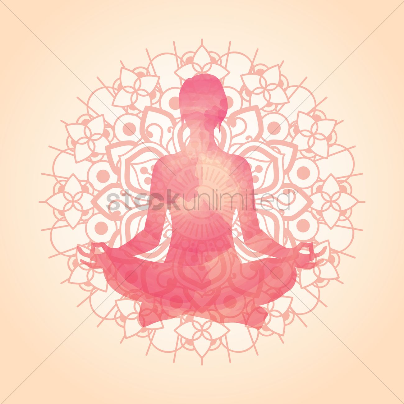 Artistic Yoga Pose Design Vector Graphic