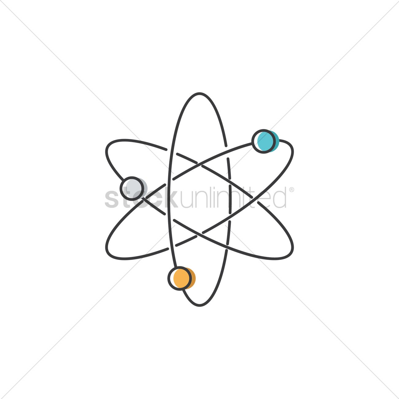 Atom structure vector image 1873183 stockunlimited atom structure vector graphic ccuart Images