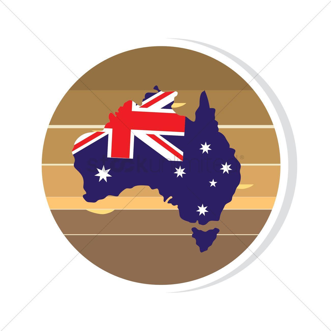 Australia flag on map sticker vector image 1961523 stockunlimited australia flag on map sticker vector graphic gumiabroncs Images